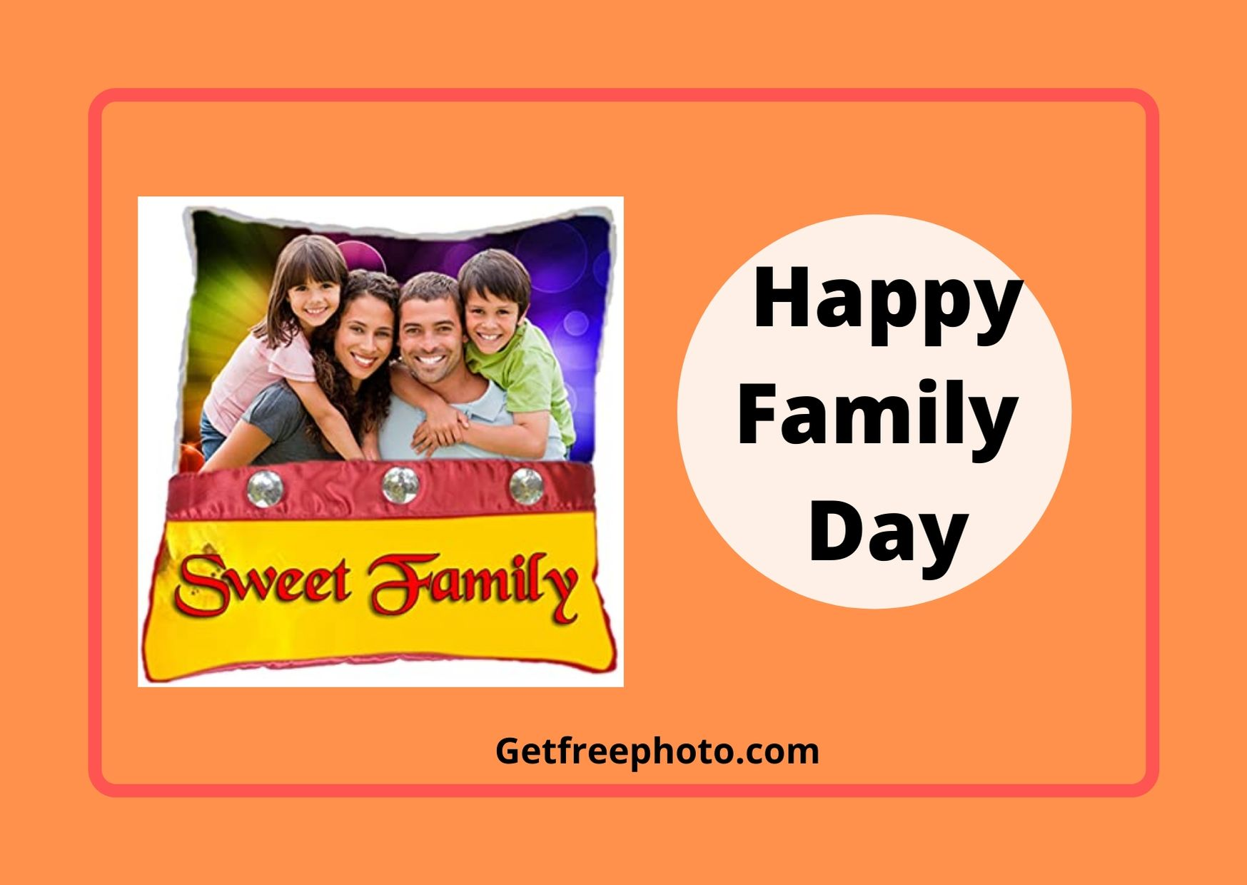 Wish you Happy Family Day Image