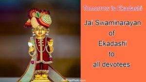 Tomorrow is Ekadashi
