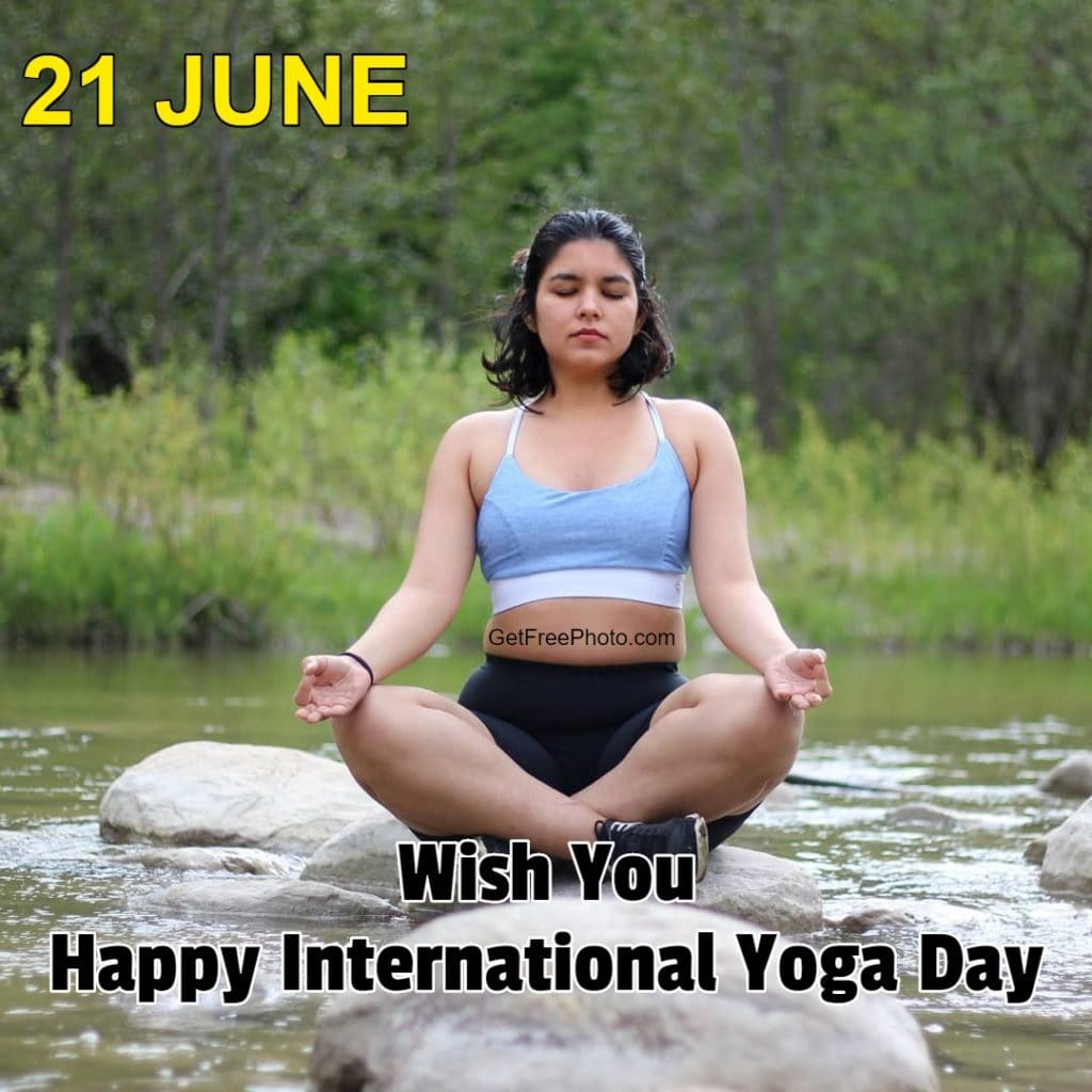 Wish You Happy International Yoga Day Photo